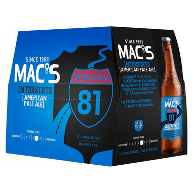 MAC'S Interstate APA Beer 330mL Bottle 12 Pack
