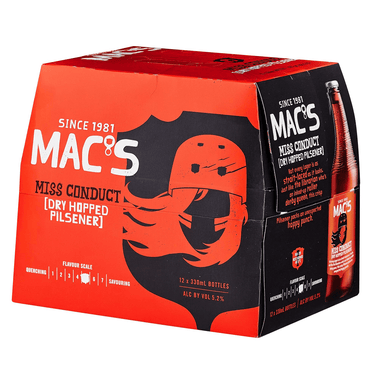 MAC'S Miss Conduct Beer 330mL Bottle 12 Pack