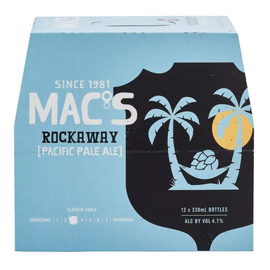 MAC'S Rockaway Beer 330mL Bottle 12 Pack