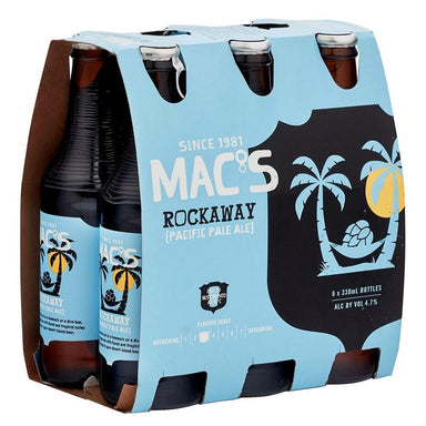 MAC'S Rockaway Beer 330mL Bottle 6 Pack