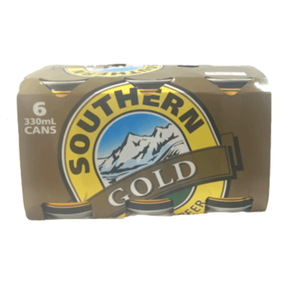 Southern Gold Beer 330mL Can 6 Pack