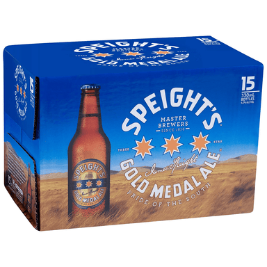 Speight's Gold Medal Ale Beer 330mL Bottle 15 Pack