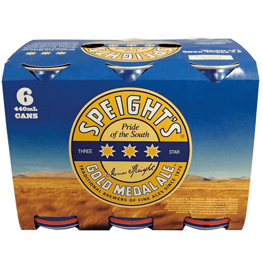 Speight's Gold Medal Ale Beer 440mL Can 6 Pack