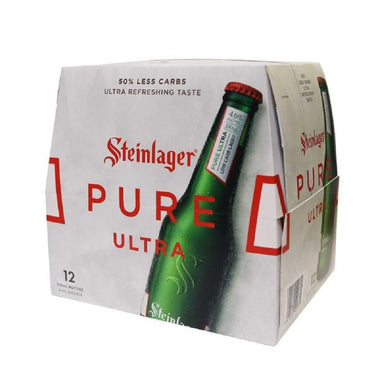 Steinlager Pure Ultra Beer 330mL Bottle 12 Pack