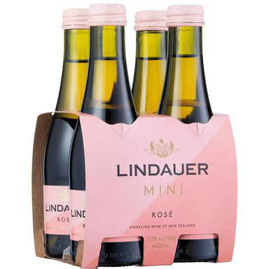 Lindauer Mini Rose 200mL 4 Pack