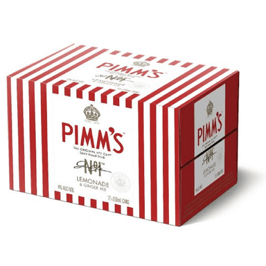 PIMM'S Lemonade & Ginger Ale 250mL Can 12 Pack