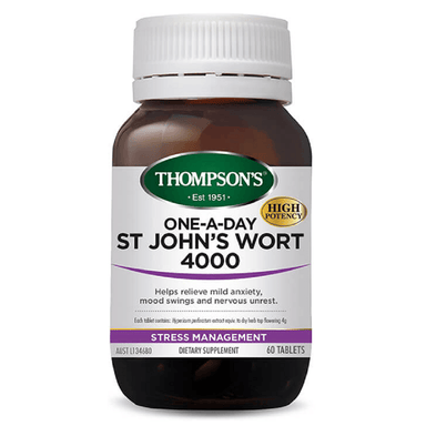 THOMPSON'S One-a-Day St John's Wort 4000 Tablets 60's