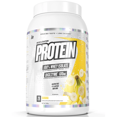 Muscle Nation PROTEIN 100% Whey Isolate 858g - Banana