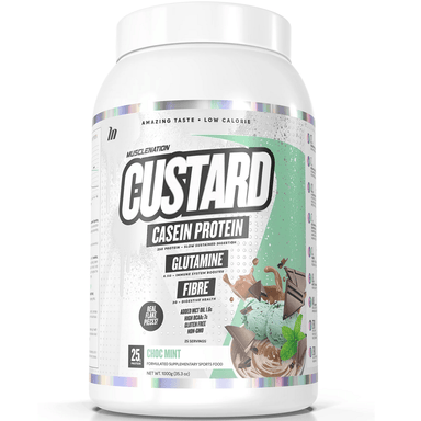 Muscle Nation CUSTARD Casein Protein 1000g - Choc Mint