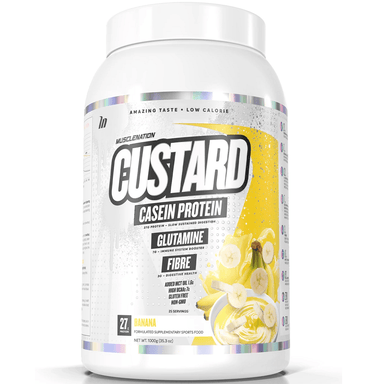 Muscle Nation CUSTARD Casein Protein 1000g - Banana