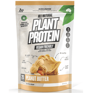 Muscle Nation 100% Natural Plant Based Protein 560g - Peanut Butter