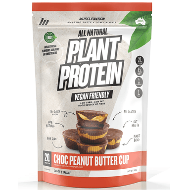 Muscle Nation 100% Natural Plant Based Protein 560g - Choc Peanut Butter Cup