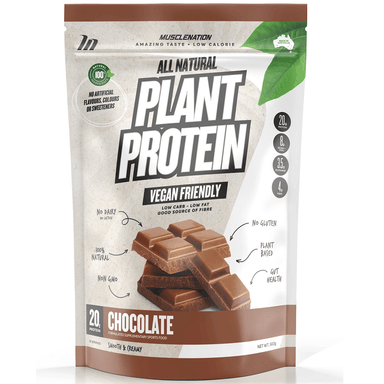 Muscle Nation 100% Natural Plant Based Protein 560g - Chocolate