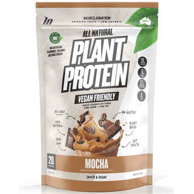 Muscle Nation 100% Natural Plant Based Protein 560g - Mocha