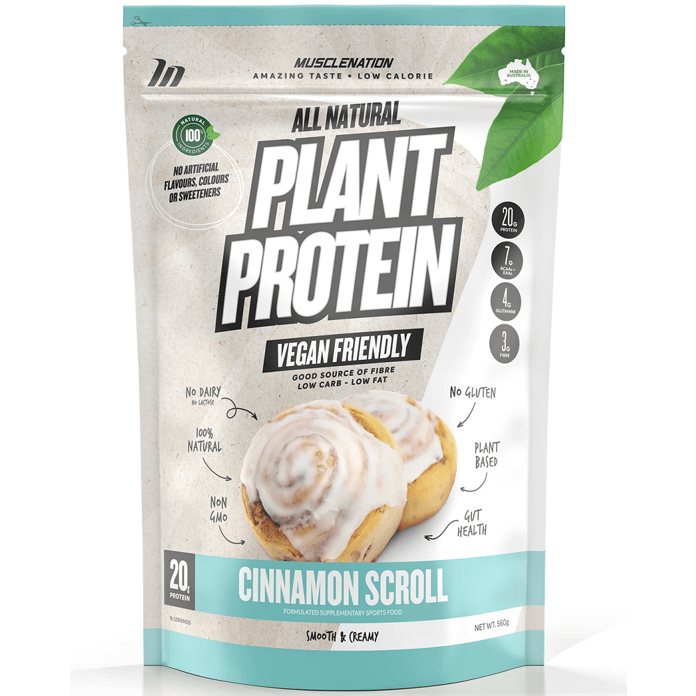 Muscle Nation 100% Natural Plant Based Protein 560g - Cinnamon Scroll