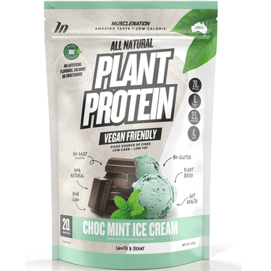 Muscle Nation 100% Natural Plant Based Protein 560g - Choc Mint Ice Cream