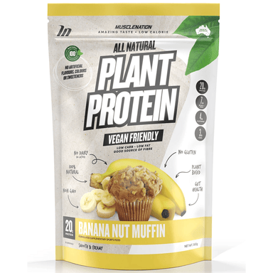 Muscle Nation 100% Natural Plant Based Protein 560g - Banana Nut Muffin