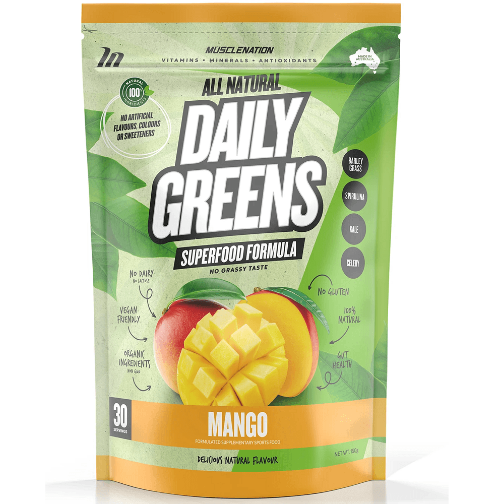 Muscle Nation 100% Natural Daily Greens 150g - Mango