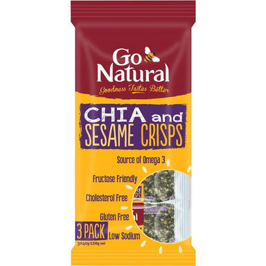 Go Natural Bars Chia & Sesame Crisp Wafers 120g (12-Pack)