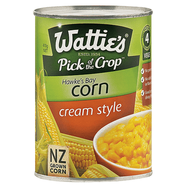 Wattie's Corn Cream Style 410g 24-Pack