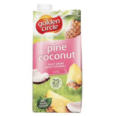 Golden Circle Pine Coconut Fruit Drink 1L 12-Pack