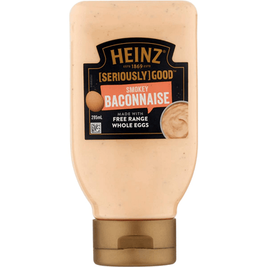 HEINZ Seriously Good Smokey Baconnaise 295mL 8-Pack