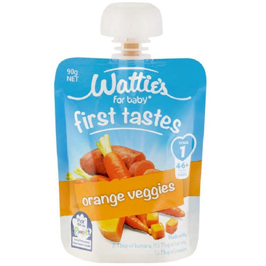 Wattie's for Baby Stage 1 First Tastes Orange Veggies 90g 6-Pack