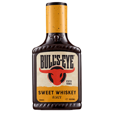 Bull's-Eye Sweet Whiskey BBQ Sauce 300mL 8-Pack