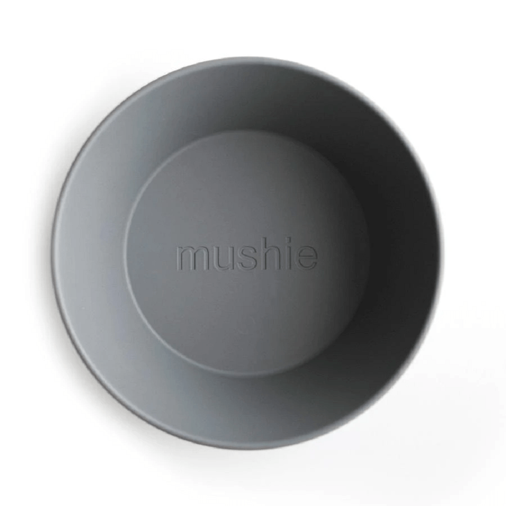 Mushie Round Dinnerware Bowl (Set of 2) - Smoke