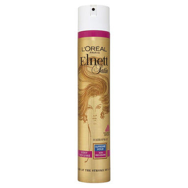 L'Oreal Paris Elnett Satin Hairspray Very Volume Supreme Hold with Pro-Keratin 400mL