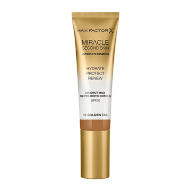 Max Factor Miracle Second Skin Foundation #10 Golden Tan