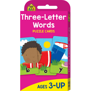 School Zone Flash Cards: Three-Letter Words Puzzle Cards