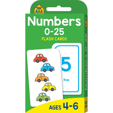 School Zone Flash Cards: Numbers 0-25