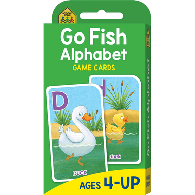 School Zone Flash Cards: Go Fish Alphabet Game Cards