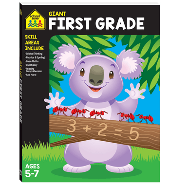School Zone Giant Workbook: FIRST GRADE