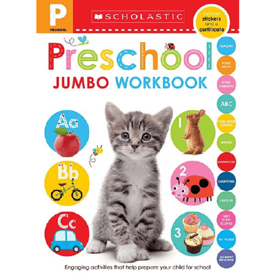 SCHOLASTIC Preschool Jumbo Workbook