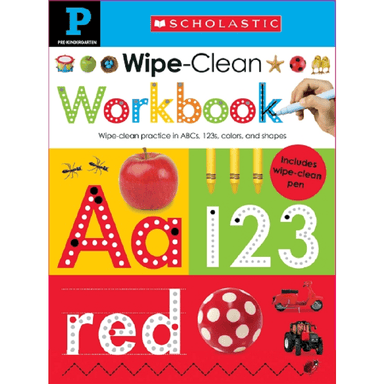SCHOLASTIC Pre-Kindergarten Wipe-Clean Workbook