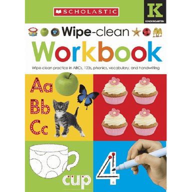 SCHOLASTIC Kindergarten Wipe-Clean Workbook