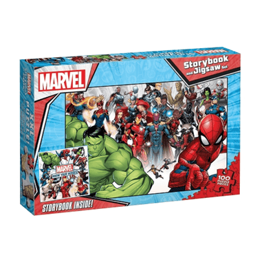 Marvel: Storybook and Jigsaw Set