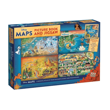 Disney Maps: Picture Book and Jigsaw