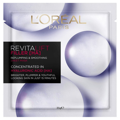 L'Oréal Paris Revitalift Filler [HA] Replumping & Smoothing Sheet Mask