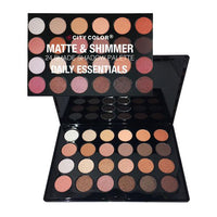 City Color Matte and Shimmer 24 Shade Shadow Palette | Daily Essentials