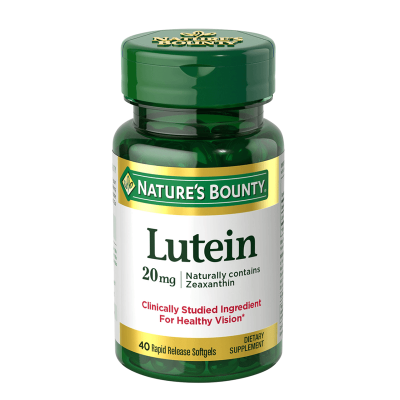 Natures Bounty Lutein 40mg 30 Soft Gels