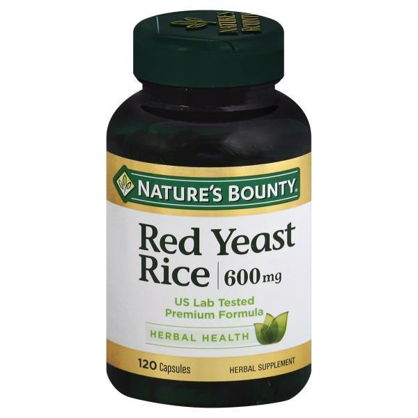 Nature's Bounty Red Yeast Rice 600mg 120 Caps