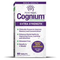 Natrol Cognium, Extra Strength 200 mg - 60 Tablets (short-dated)