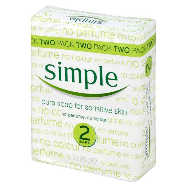 Simple Pure Soap for sensitive skin Twin Pack