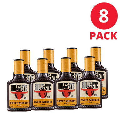Bull's-Eye Sweet Whiskey BBQ Sauce 300mL 8 Pack