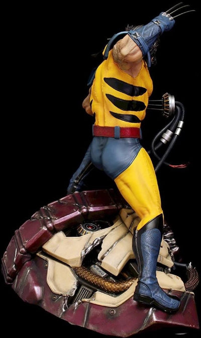 WOLVERINE ON SENTINEL HEAD 1/4 Scale Statue WITH COIN by XM Studios