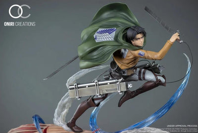 Levi Ackerman VS Female Titan Diorama Statue