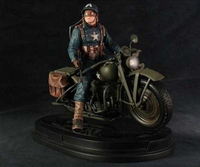 Captain America on Motorcycle 1/6 Scale Statue